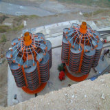 Separador de tubo espiral de la gravedad de la planta de lavado de mineral de cromo concentrador