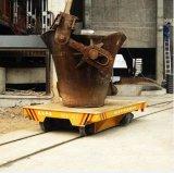 De Vlakke Aanhangwagen van Ladel van de Industrie van het metaal met Veiligheidsapparaat op Sporen