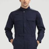 方法青はWorkwearのつなぎ服を均一着色する