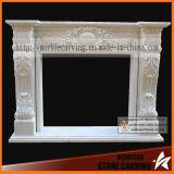 Fábrica Directamente Livingroom Piedra Escultura Chimenea Chimenea Chimenea Metal