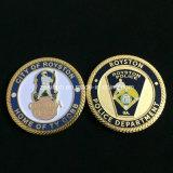 관례 미국 군 편평한 금속 도전 동전