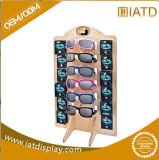 Prateleira de indicador de madeira de giro do MDF de Supermarker do armazenamento da melamina para óculos de sol /Earphone/Shoe/Sock/Shampoo/Lens do vinho/roupa