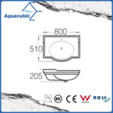Bassin en céramique Semi-Enfoncé de lavage des mains de bassin de Module de salle de bains (ACB4280)
