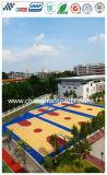 Elastischer Slicon PU-Basketballplatz des hölzernen Beschaffenheits-Musters