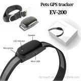 Resistente al agua IP66 Mascotas rastreador de GPS con el collarín (EV-200).