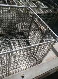 Cesta de limpeza de peças metálicas industriais