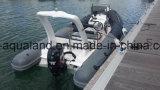 Aqualand 18feet 5.4m Rib Motor BoatかRigid Inflatable Fishing Boat (RIB540B)