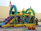 Inflatable esterno Happy Clown Combo Obstacle Course per Kids da vendere