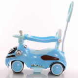押し棒が付いている電力の子供の電気自動車のおもちゃ