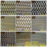 Malla de alambre arquitectónica de malla metálica ondulada decorativa