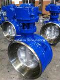 Válvula de mariposa de la BI-Dirección del acero de carbón Pn25 Dn300