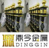 Valla de hierro forjado decoración para el diseño de puerta de hierro forjado.