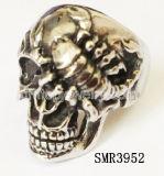 El cráneo de acero inoxidable 316 Scorpion el anillo (SMR3952)