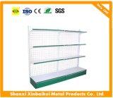 Shelving do indicador do armazenamento de racking do supermercado das prateleiras da parede com ganchos