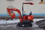 Mini excavador We08 del lobo para el edificio agrícola de Samll