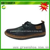 Fábrica directamente Moda hombres zapatos de cuero genuino PU Material