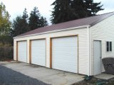 Edificio del garage del coche de la estructura de acero de la luz de puerta doble (KXD-135)
