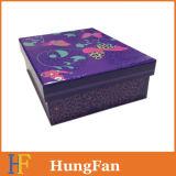Rectángulo de empaquetado rígido de imprenta de la tarjeta de encargo del papel para el regalo