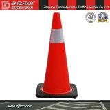 """36"""" en PVC souple réfléchissant la sécurité du trafic cône avec base noire (CC-PV90)"""