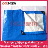 PE impermeável plástico de prata azul encerados tecidos para a tampa da agricultura