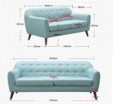 Sofá moderno da tela da cor azul, mobília da HOME do projeto simples (M617)
