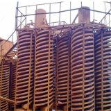 De Spiraalvormige Helling van de Separator van de ernst voor de Installatie van de Was van het Chroom van de Concentrator van het Erts