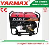Moteur diesel à refroidissement par air Yarmax Moteur à gaz monophasé à phase unique Genset Ym6500e