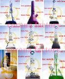 Tuyau d'eau en verre pour fumer le narguilé en verre borosilicaté Perc Honeycomb tube droit