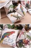 Pays riche en style canapé de coton contenant Bird Parrot oreiller de coussin de base