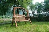 Presidenza d'oscillazione d'attaccatura dell'oscillazione di svago del patio del giardino con tessuto di legno