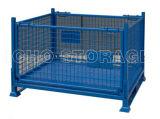 Contenitore d'impilamento pieghevole pieghevole del pallet galvanizzato memoria della rete metallica del magazzino