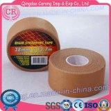 使い捨て可能で熱い販売の高品質の付着力の伸縮性があるスポーツテープ
