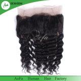 ペルーの毛のレースのかつら360の正面ニースの品質100%の加工されていない人間の毛髪