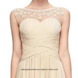 Длинняя шея шлюпки фиоритуры сексуальная видит до конца шифоновое платье вечера
