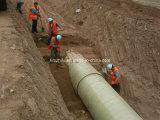 GFRP tubos con arena en la pared del tubo de enrollamiento de filamentos o Continuo Winding