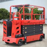 6-13m Electric table élévatrice à ciseaux automotrices avec volant de direction
