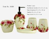 Cuarto de baño de cerámica 4PCS de Delux (dolomía) fijado con el embalaje del rectángulo de regalo