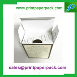 Коробка изготовленный на заказ главного роскошного бумажного подарка складывая с PVC/вставкой любимчика/картона для косметики/дух/Skincare