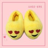 Calzado de interior animal de los zapatos de los deslizadores de Emoji de la mujer