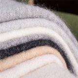 Tessuti Mixed neri delle lane delle lane e del mohair con la mano regolare