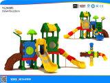 Пластиковый слайд для использования вне помещений игровая площадка оборудования (YL24485)
