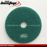 Almofada de polonês flexível da resina 800# para o granito
