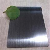 Una buena calidad de la placa de acero inoxidable AISI304 Negro Titanum Hoja de espejo o acabado de color del indicador de la fábrica China
