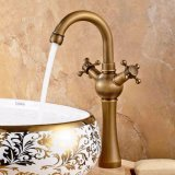 FLG Antique Bathroom Basin Taps Point Deck Mounted