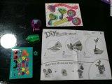 Papierspielwaren der Kind-DIY für Tier-Igeles und Maus