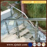 Projeto ao ar livre da balaustrada dos trilhos do cabo do aço inoxidável (SJ-S054)
