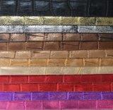 Gouden pvc Upholstery Leather van Effect Faux Pu voor Bag (8545)