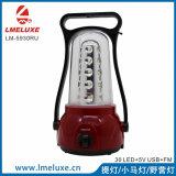 LED portatile con l'indicatore luminoso di campeggio di carico di FM Raido e del USB