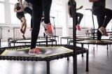 Binnen Commerciële het Springen Bungee Trampoline met de Regelbare Staaf van het Handvat voor de Club van de Gymnastiek