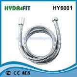 Nenhum bloqueio única extensível Chuveiro Mangueira Flexível de Aço Inoxidável Hy6001